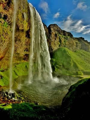 Photograph - Behind The Falls 2 by Sarah Pemberton