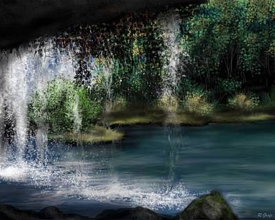 Painting - Behind The Falls by Ron Grafe
