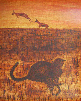 Cheetah Mixed Media - Behind The Hunt by Stephanie Grant