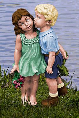 Digital Art - Behind The Kiss by John Haldane