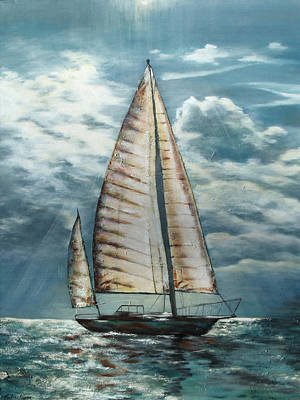 Painting - Behind The Light by Katrina Nixon