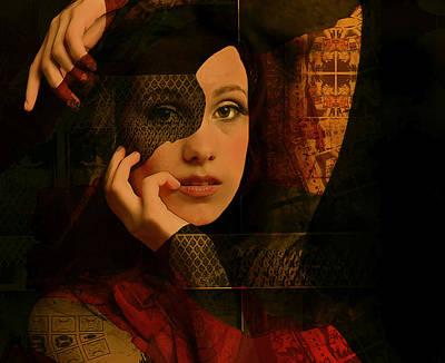 Lips Digital Art - Behind The Mask by Jeff Burgess