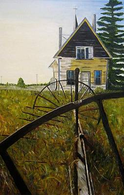 Art Print featuring the painting Behind The Old Church by Marilyn  McNish