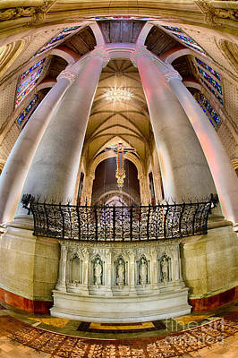 Behind The Sanctuary St John The Divine Art Print by Jerry Fornarotto