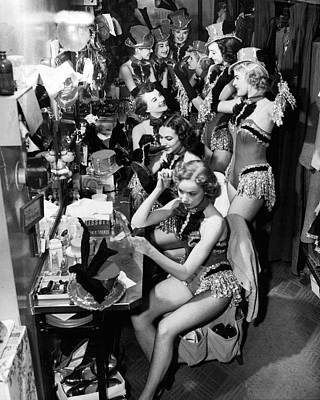Perform Photograph - Behind The Scenes With The Famous Rockettes by Retro Images Archive