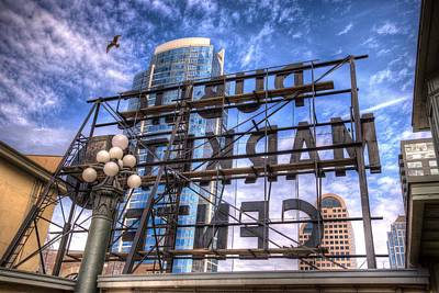 Photograph - Behind The Iconic Public Market Center Sign by Spencer McDonald