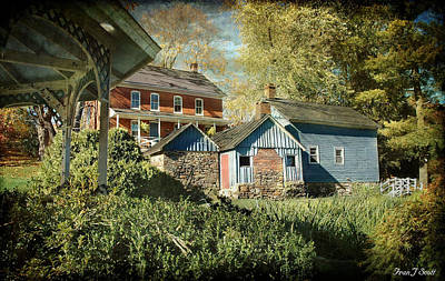 Farm Scene Photograph - Behind The Smokehouse by Fran J Scott