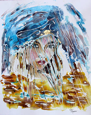 Painting - Behind The Storm by Mona Mansour Jandali
