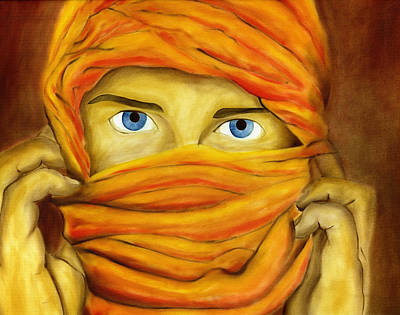 Hijab Painting - Behind The Veil by Hakon Soreide