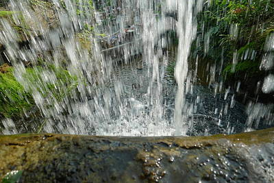 Photograph - Behind The Waterfall by Denise Mazzocco