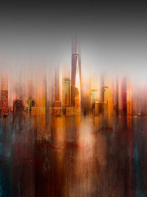 Abstract Skyline Wall Art - Photograph - Behind The Window by Carmine Chiriac?