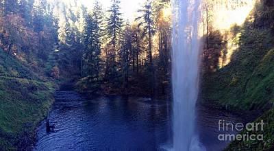 Photograph - Behind Water Fall  by Susan Garren