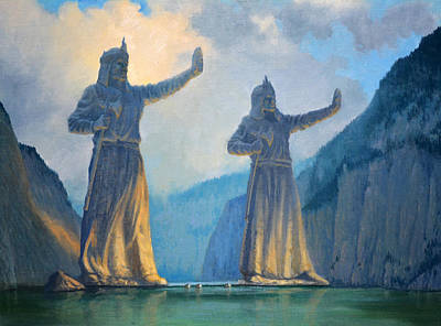 Painting - Behold The Argonath by Armand Cabrera