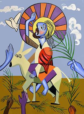 Palm Sunday Painting - Behold The Lamb Of God by Anthony Falbo