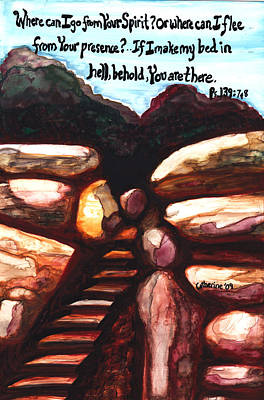 Saldana Painting - Behold You Are There by Catherine Saldana