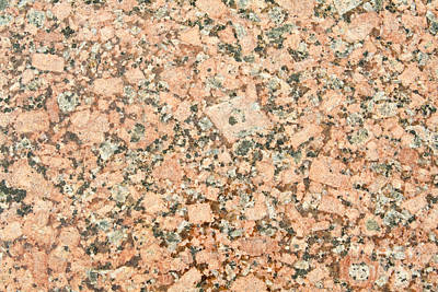 Speckled Granite Photograph - Beige Granite  by Jim Pruitt