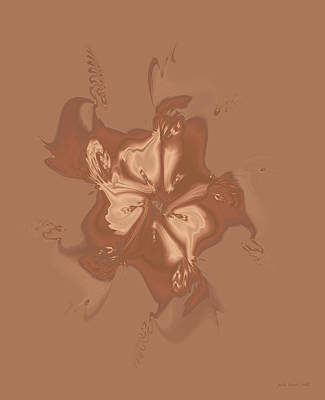 Digital Art - Beige Satin Morning Glory by Judi Suni Hall