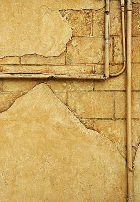 Background And Textures Photograph - Beige Wall by Con Tanasiuk