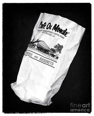 Pastry Bag Photograph - Beignets In The Bag by John Rizzuto