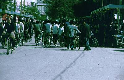Photograph - Beijing Bicycles In Market by John Warren
