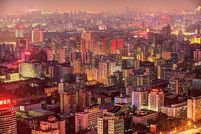 Beijing Buildings Density Art Print by Tony Shi Photography