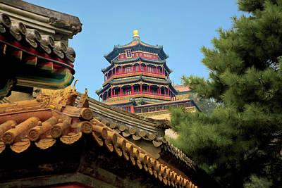 Beijing, China, The Pavilion Art Print by Miva Stock