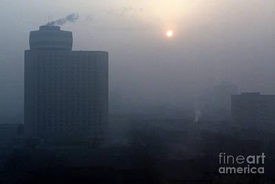 Impressionist Landscapes - Beijing Smog by J L Woody Wooden