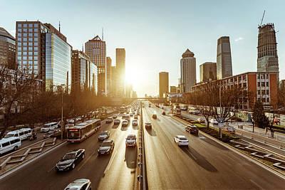 Photograph - Beijing Traffic by Dukai Photographer