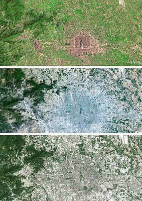 Comparing Photograph - Beijing Urban Spread by Planetobserver