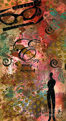 Painting - Being Fully Present In This Life Today by Angela L Walker