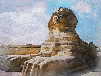 Being Ignored By The Sphinx Art Print by Philip White