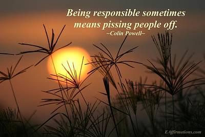 Being Responsible  Art Print by Pharaoh Martin