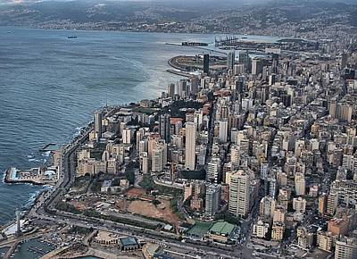 Urban Landscape Photograph - Beirut Aerial View by Steven Richman
