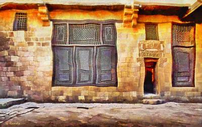 Blue Painting - Beit El Harrawi by George Rossidis
