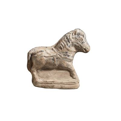 Ceramics Photograph - Beit Natif Type Horse Figurine by Science Photo Library
