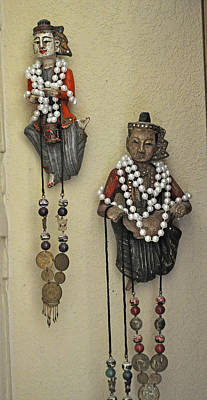 Wood Necklace Photograph - Bejeweled Natives by Jay Milo