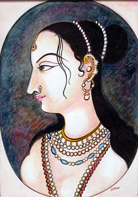 Lady Painting - Bejewelled by Harsh Malik