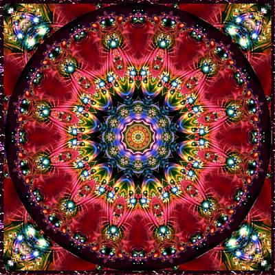 Digital Art - Bejewelled Mandala No 4 by Charmaine Zoe