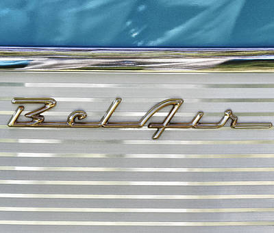 Photograph - Bel Air Auto Insignia by Tony Grider