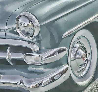 Bel Air Headlight Art Print by Victor Montgomery