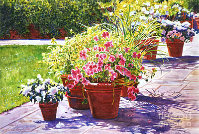 Terra Painting - Bel-air Welcome Garden by David Lloyd Glover