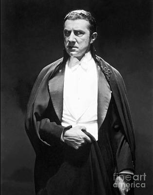 Movie Star Photograph - Bela Lugosi - Dracula by MMG Archives