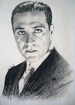Dracula Drawing - Bela Lugosi - Count Dracula  by Henry Goode