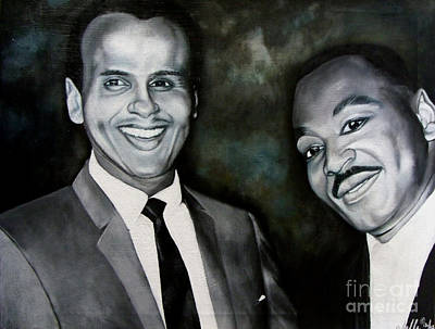 Painting - Belafonte And King by Chelle Brantley