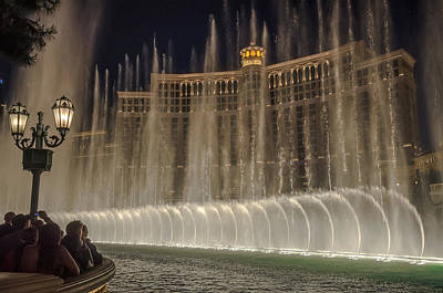Photograph - Belagio Fountains by Ryan Heffron