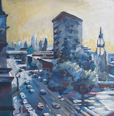 Stockton Painting - Belding Building View by Vanessa Hadady BFA MA