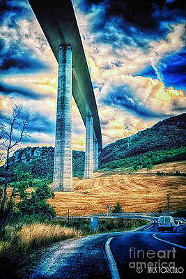 Beleau Millau Viaduct France Art Print by Jack Torcello