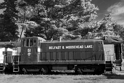 Photograph - Belfast And Moosehead Lake Railroad Maine Img 6152 by Greg Kluempers