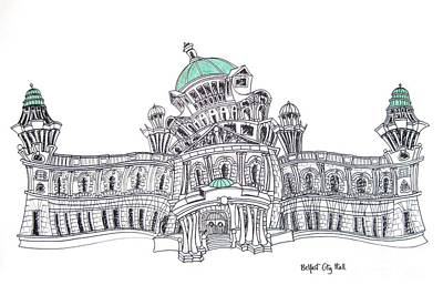 Belfast City Hall Belfast Art Print by Tanya Mai Johnston