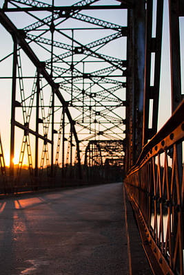 Photograph - Belford Bridge At Sunset by Nathan Hillis